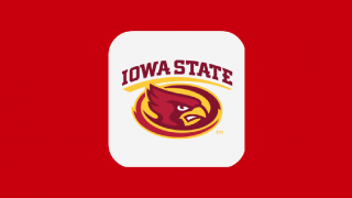 Square MyState application icon with Iowa State in red with Cy mascot graphic below